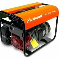 Unicraft PG 500 TRA - Wysokiej jakości agregat prądotwórczy 230/400 V o mocy 2,8/4,3 kW.