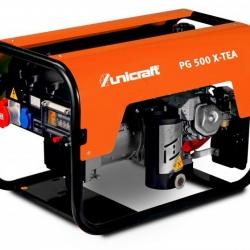 Unicraft PG 500 X - TEA - Profesjonalny agregat prądotwórczy, przeznaczony do ciągłego użytkowania.
