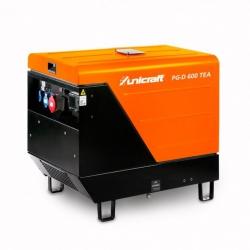 Unicraft PG-D 600 TEA - Profesjonalny agregat prądotwórczy 230V / 400V o mocy 2,6kW / 5,5kW z silnikiem diesla Yanmar L100N.