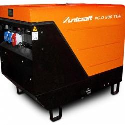 Unicraft PG-D 900 TEA - Wysokiej jakości agregat prądotwórczy 230 V / 400 V o mocy 2,6 kW / 5,5 kW.