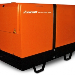 Unicraft PG-D 1100 TEA - Profesjonalny agregat prądotwórczy 230 V / 400 V o mocy 2,6 kW /5,5 kW.