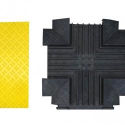 Najazd kablowy krzyżowy / skrzyżowanie - pokrywa w kolorze żółtym