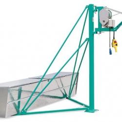 Airone 300 N - Wciągarka budowlana z wysięgnikiem 1,1 m, udźwig 300 kg, lina 31m