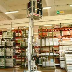 Platforma podnośnikowa przemieszczana ręcznie Sria PK wys. pracy do 16m