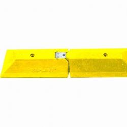 Próg prowadzący - końcowy, 490 x 90 x 248 mm - kolor żółty