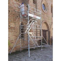Rusztowanie Top System ze schodami   Podest: 1,35x2,45m