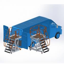 Platforma robocza do samochodów dostawczych typu bus do 3,5 t