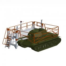 Platforma robocza, rusztowanie do obsługi czołgów bojowych