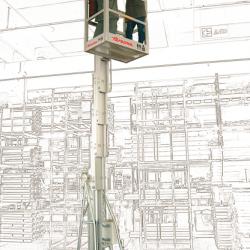 ZP 200 Podnośnik przeznaczony do podnoszenia 1 lub 2 operatorów na wysokość do 14 m