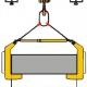 Nakładka na widły wózka widłowego z uchwytem do transportu kręgów walcówki