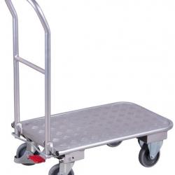Wózek platformowy aluminiowy, 150 kg, obrotowe koła