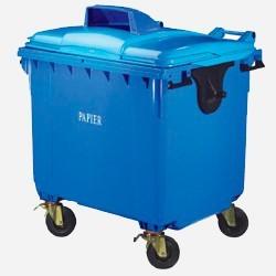 Pojemniki do segregacji śmieci 4 kołowe