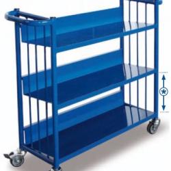 Wózek do przechowywania i przewożenia książek