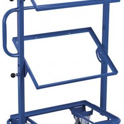 Wózek na skrzynki, 3 półki bez płyty, 2 nachylone