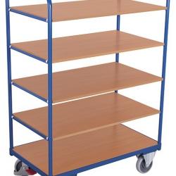 Wysoki wózek półkowy z 5 półkami