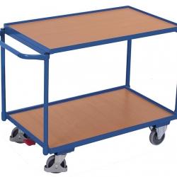 Lekki wózek stołowy z 2 półkami
