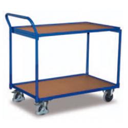 Wózek z 2 półkami z wysoką rączką