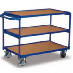 Lekki wózek stołowy z 3 półkami