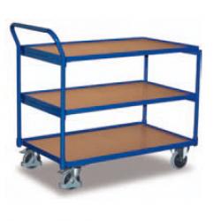 Wózek stołowy z 3 półkami i wysokim uchwytem