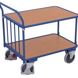 Wózek systemowy ręczny z 2 półkami i pałąkiem