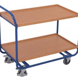 Stalowy wózek stołowy z 2 tacami i uchwytem