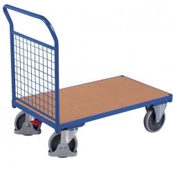 Wózek z jedną burtą wyposażony w obrotowe koła, udźwig do 500 kg