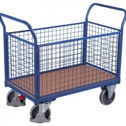 Wózek z 4 burtami, wysokość burt 500 mm, dłuższe burty wyjmowane