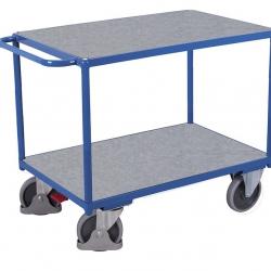 Ciężki wózek stołowy z 2 powierzchniami użytkowymi z blachy ocynkowanej