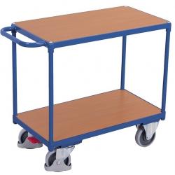 Ciężki wózek stołowy z 2 powierzchniami użytkowymi z płyty drewnopodobnej (MDF)