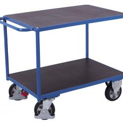 Wózek z antypoślizgowymi 2 półkami, duży udźwig