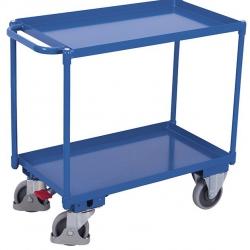 Wózek stołowy 2 półki z wanną, spawany ze stali, udźwig 400 kg.
