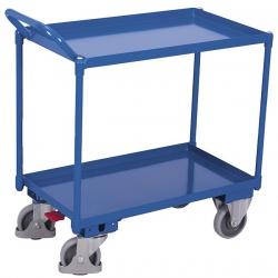 Wózek stołowy z 2 półkami w formie wanien, udźwig 400 kg
