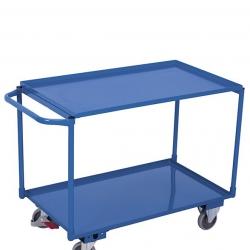 Wózek z 2 półkami w formie wanien, stalowy, udźwig 250 kg