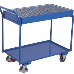 Wózek warsztatowy z wanną spustową 45,5 litrów i 1 półką, udźwig 250 kg