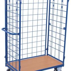 Wysoki wózek koszowy na paczki, 3 ściany, udźwig do 500 kg
