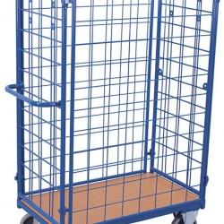 Wysoki wózek siatkowy do paczek, 4 ściany, udźwig do 500 kg