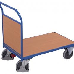 Wózek platformowy z drewnianą burtą, udźwig do 500 kg, 4 modele
