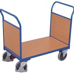 Wózek platformowy 2 burty drewniane, udźwig do 500 kg, 4 modele