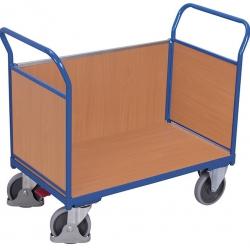 Wózek systemowy zabudowany 3 burtami, udźwig do 500 kg, 4 modele