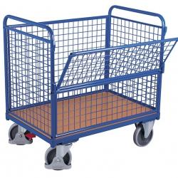 Wózek skrzyniowy siatkowy, udźwig 500 kg, 2 modele