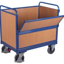 Wózek skrzyniowy z burtą czołową, udźwig 500 kg, 2 modele