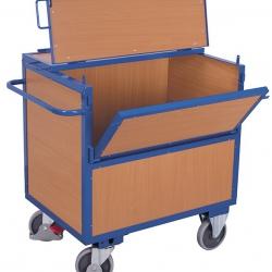Wózek skrzyniowy zabudowany, 2 burty, udźwig 500 kg, 2 modele