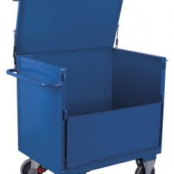 Wózek z blachy, cały zabudowany, 2 burty, udźwig 500 kg, 2 modele