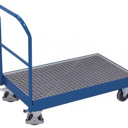 Wózek platformowy z wanną spustową, 42,5 l pojemności, udźwig 250 kg