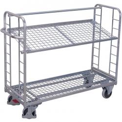 Wózek z nachyloną półką, ocynkowany, udźwig do 400 kg, 2 modele