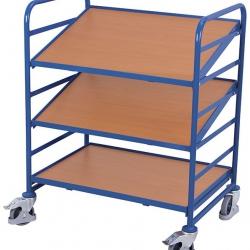 Wózek na skrzynki euro, 2 nachylone półki, udźwig 200 kg