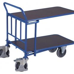 Wózek sklepowy 2 półki, antypoślizg, wodoodporność, 500 kg udźwig