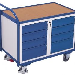 Wózek warsztatowy z 8 szufladami na klucz, 1 blat, udźwig 250 kg