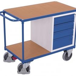 Wózek do warsztatu, udźwig 500 kg, 4 szuflady na klucz, 2 blaty