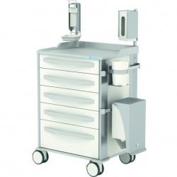 Wózek szpitalny pielęgnacyjny MPO z roletami